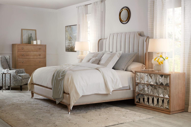 Hooker Furniture Novella Collection Mirada Upholstered Bed Room Scene